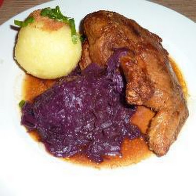 Roast Duck with Apple, Rum and Raisin Stuffing