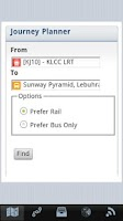 Screenshot of KL Transport Planner
