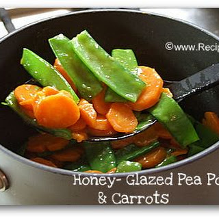 Honey- Glazed Pea Pods and Carrots