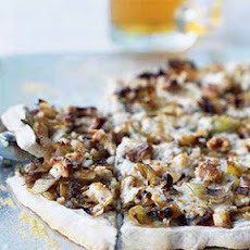 Leek, Ricotta, and Walnut Pizza