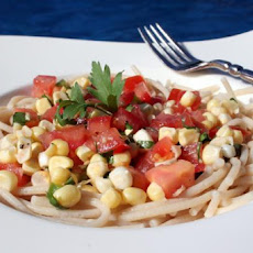 Summer Tomato-Corn Salsa Cruda (Raw Sauce) for Pasta