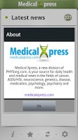 Screenshot of Medical Xpress (free)