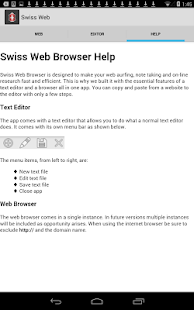 Swiss Web Browser - screenshot