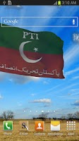 Screenshot of 3d Tehreek-e-Insaf Flag (PTI)