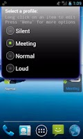 Screenshot of Simple Sound Profile Widget