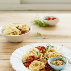 Pasta with Honey Roasted Tomatoes and Herbed Breadcrumbs