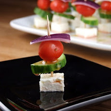 Easy Greek Appetizer Skewers