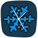 Clocky Snowflake winter clock icon