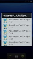 Screenshot of AquaBear ClockWidget