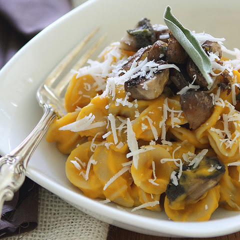 Butternut Squash Pasta with Sage Mushrooms