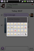 Screenshot of mChat - chat app for Facebook