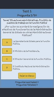 TestOpos Admtvo Admon Estado - screenshot