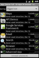 Screenshot of App Cleaner