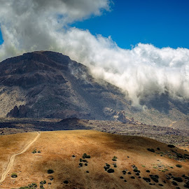 On the path by Jaroslaw Tomczyk - Landscapes Mountains & Hills ( clouds, mountain, tenerife, landscape, people )