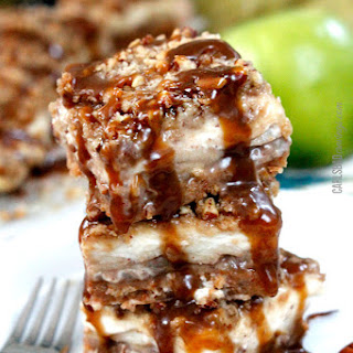 7 Layer Candy Apple Cheesecake Bars