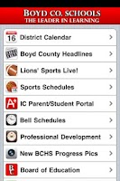 Screenshot of Boyd County Schools