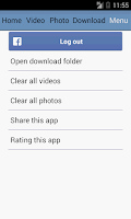 Screenshot of Downloader for Facebook Video