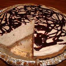 Easy Frozen Peanut Butter Chocolate Pie (Lower-Fat)
