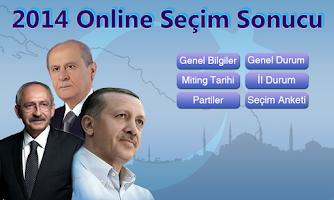 Screenshot of 2014 Online Seçim Sonucu