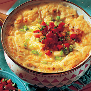 Southern Grits Casserole with Red Pepper Relish