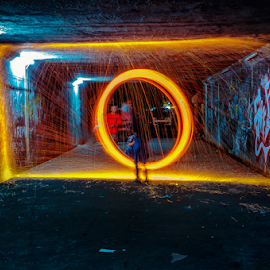 Steel Wool #1 by Aditya Perdana - Abstract Light Painting