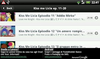 Screenshot of Kiss me Licia