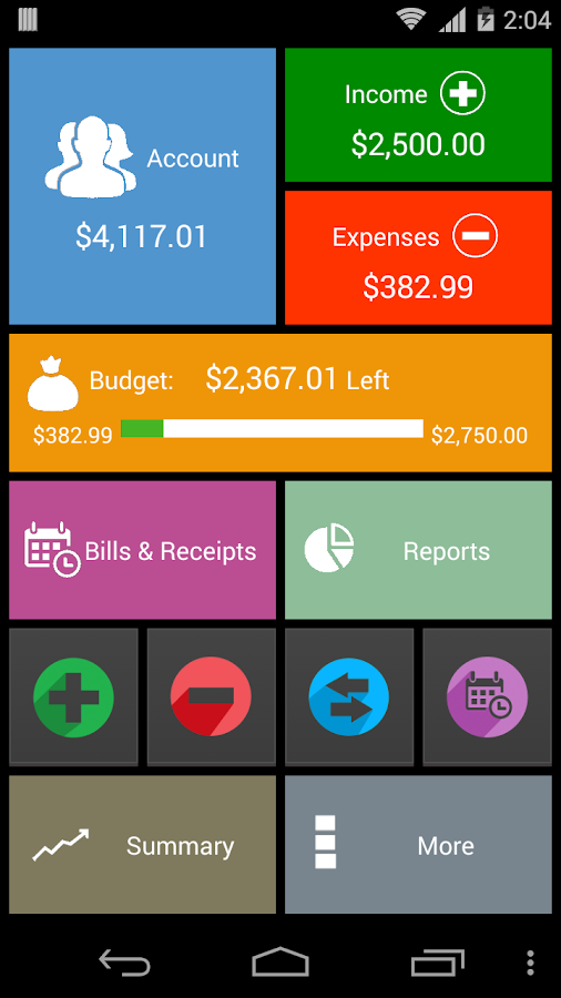 My Wallet - Expense Manager Screenshot