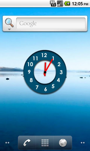 Jetpad Blue Analogue Clock