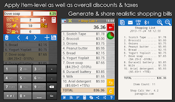 Screenshot of Shopping List Price+Tax+Budget