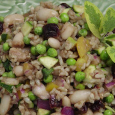 Brown Rice Salad With Zucchini, Beans and Dried Cherries