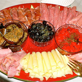 Antipasto Italiano by Peter DiMarco - Food & Drink Meats & Cheeses ( meats and cheeses, antipasto, food, meat, eating )