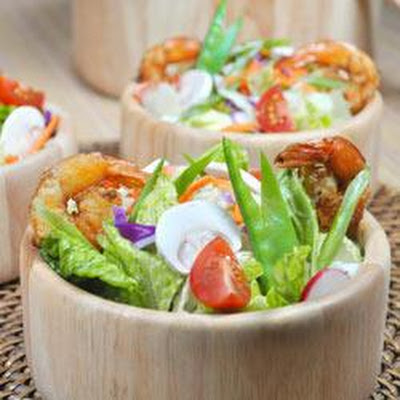Grilled Shrimp Salad with Sesame Ginger Vinaigrette