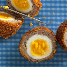 Breakfast Sausage and Cornflake Scotch Eggs