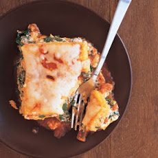 Polenta Lasagna with Butternut Squash and Spinach