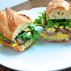 Mango steak sandwich