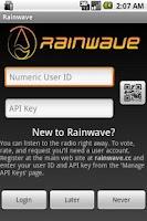 Screenshot of Rainwave