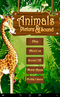 Screenshot of Animals Sound and Picture