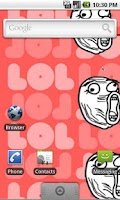 Screenshot of Rage Face live wallpaper LOL