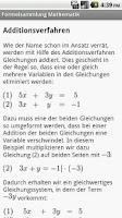 Screenshot of Formelsammlung Mathematik Pro