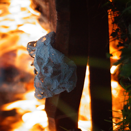 by Matthew Lynam - Artistic Objects Furniture ( clouds, chair, flames, dress, fall, trash, hot, october, ceremony, fire )