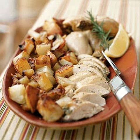Lemon-Rosemary Roasted Chicken Thighs with Potatoes Recipe | Yummly