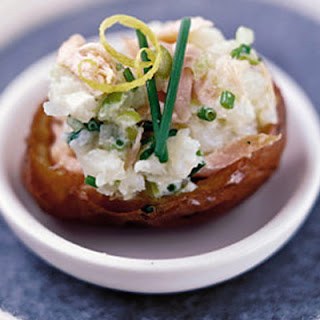 Salmon & Soured Cream Potato Bites