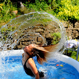 splash 2 by Nick Tizard - Babies & Children Child Portraits ( water, fun, hair, swimming, paddle )