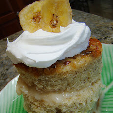 Rice Cake With Almond Butter and Bananas