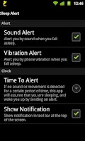 Screenshot of Sleep Alert