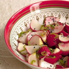 Pickled Radishes and Green Onion