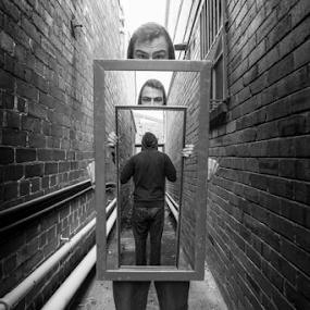 Trick photography  by Adam Scarf - Digital Art People ( reflection, frame, trick, people, photography, photoshop )