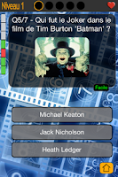 Screenshot of Ciné Quizz