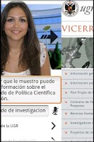 Screenshot of Asistente Virtual de la UGR