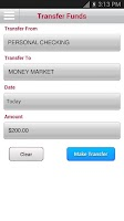 Screenshot of Bank of Arizona Mobile